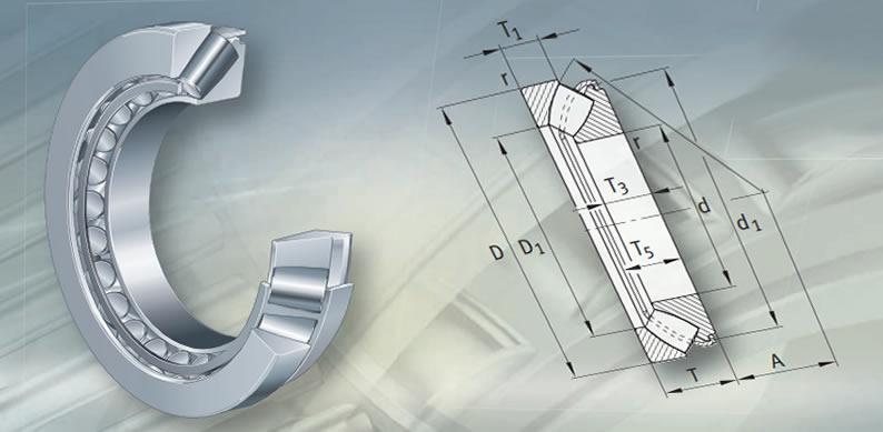 Axial spherical roller bearings