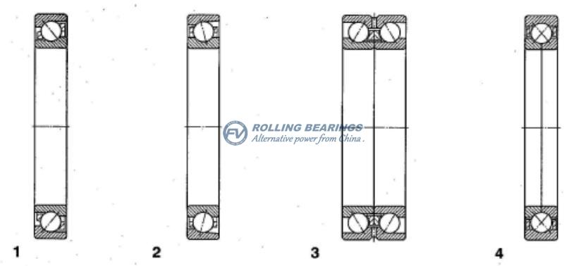 All types of angular contact ball bearings